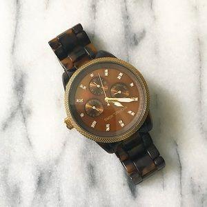 Michael Kors Tortoise Acrylic Watch